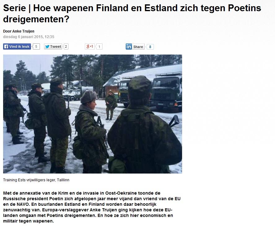Image for Как Эстония и Финляндия справляются с путинскими угрозами?