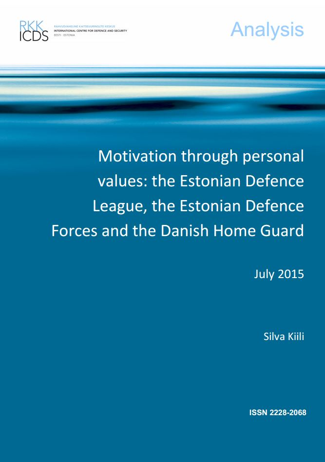Image for Motivation through personal values: the Estonian Defence League, the Estonian Defence Forces and the Danish Home Guard