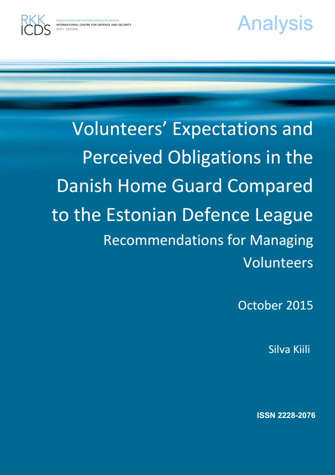 Image for Volunteers' Expectations and Perceived Obligations in the Danish Home Guard Compared to the Estonian Defence League