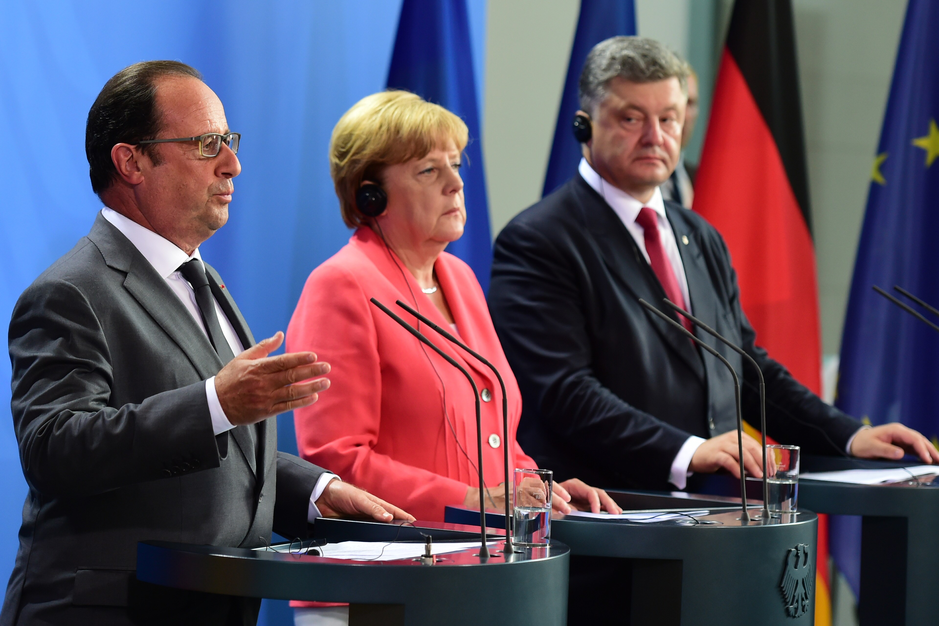 Image for Putin Absent, His Agenda Dominates at Normandy Group Meeting on Ukraine