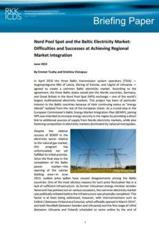 Image for «Nord Pool Spot» и балтийский рынок электроэнергии: трудности и успехи в достижении интеграции регионального рынка