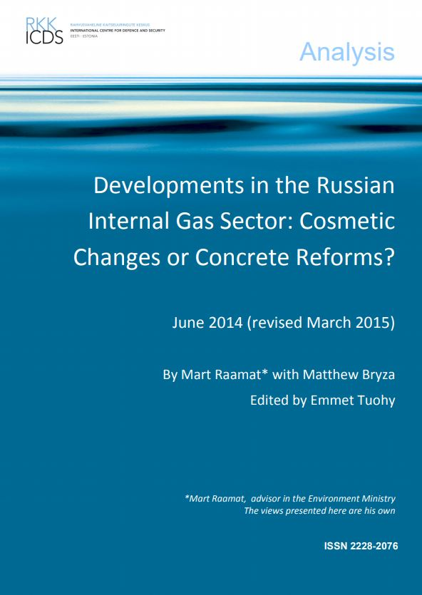 Image for Developments in the Russian Internal Gas Sector: Cosmetic Changes or Concrete Reforms?