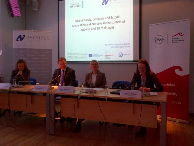 Image for ICDS Junior Research Fellow Helga Kalm Speaks at Providus about Baltic Cooperation