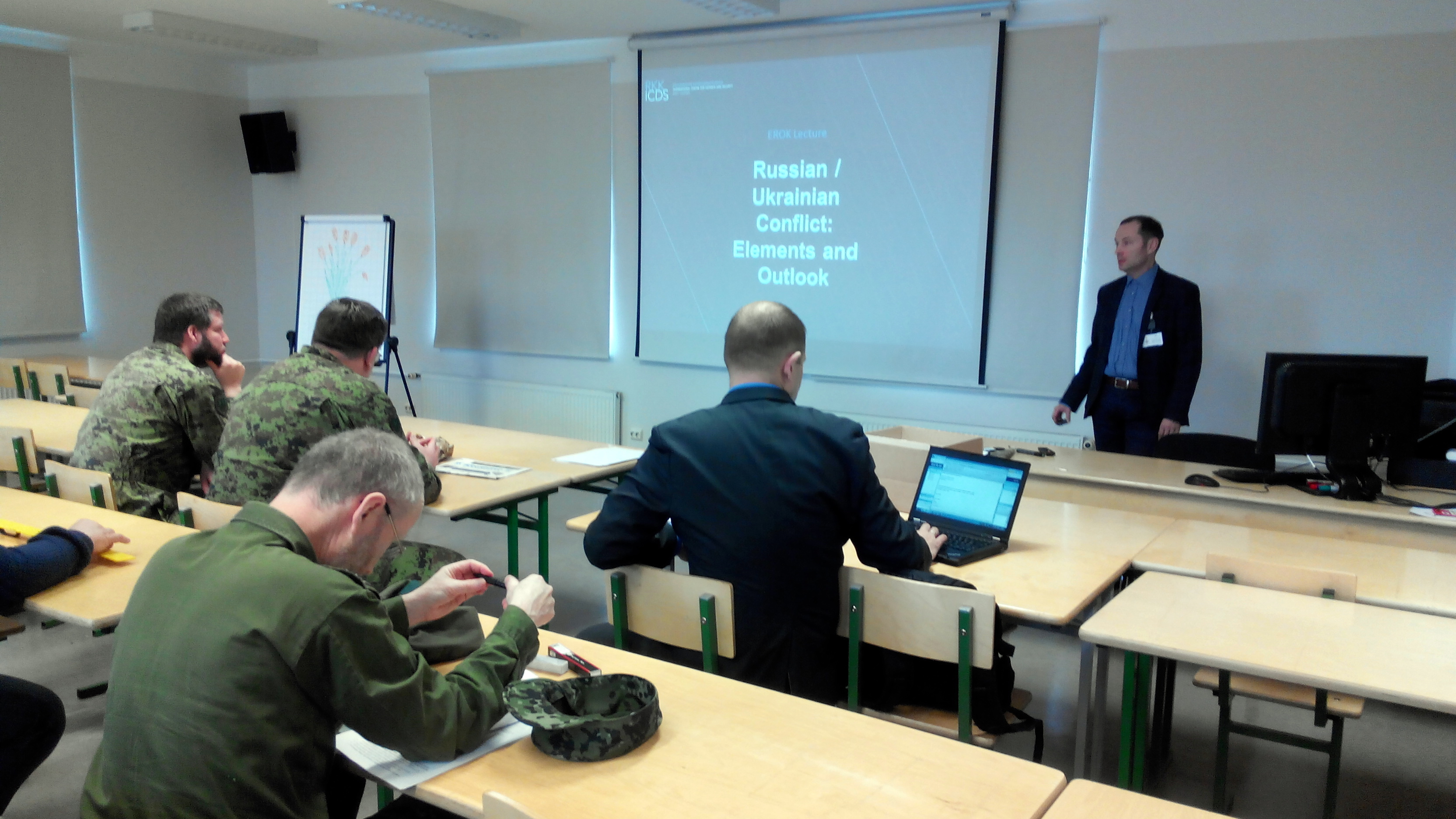 Image for Maksym Bugriy of ICDS Speaks on Russia-Ukraine Conflict to Estonian Reserve Officers