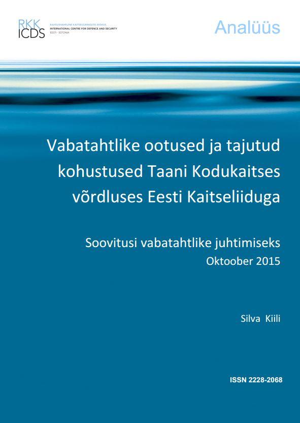 Image for Vabatahtlike ootused ja tajutud kohustused Taani Kodukaitses võrdluses Eesti Kaitseliiduga