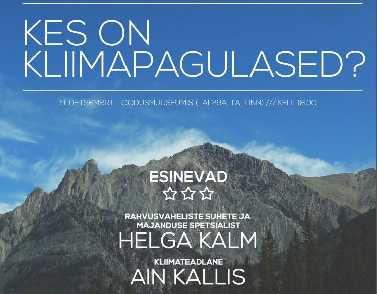 Image for Helga Kalm Speaks about Climate Refugees