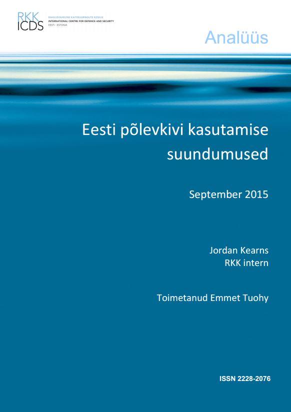 Image for Eesti põlevkivi kasutamise suundumused