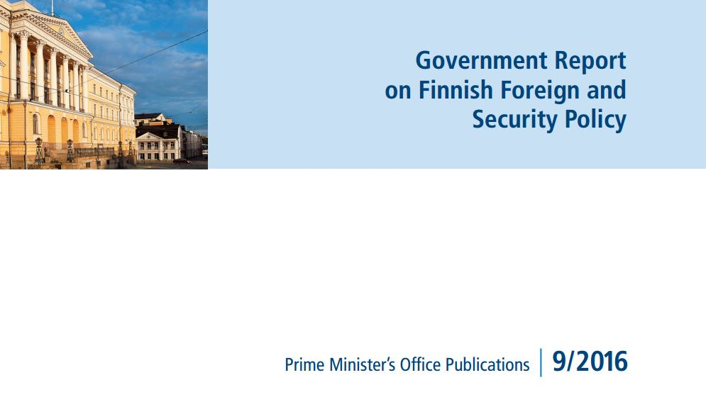Image for Finnish White Paper on Foreign and Security Policy