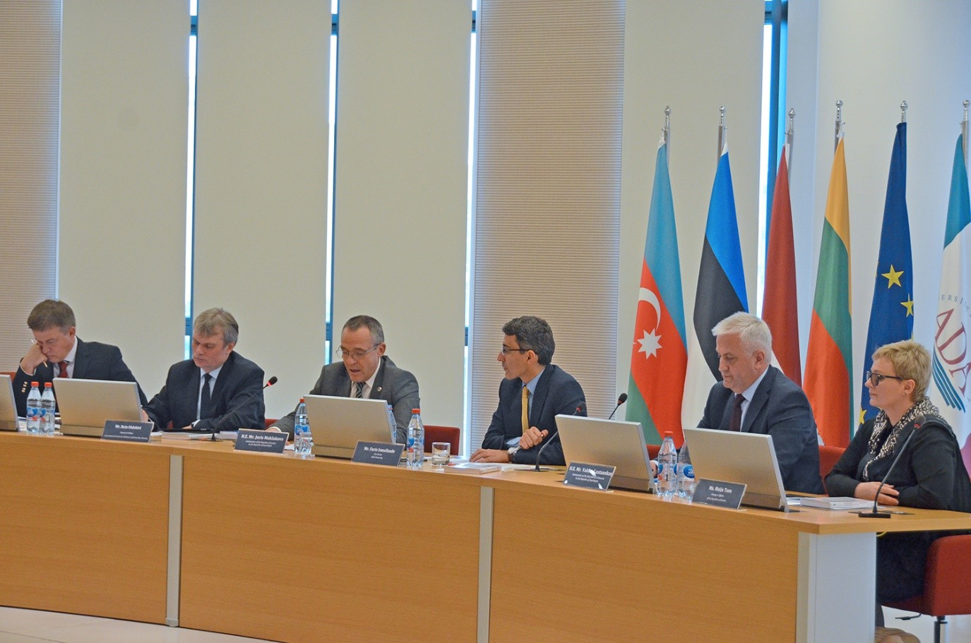 Image for Rein Oidekivi made a presentation in the conference at ADA University in Baku