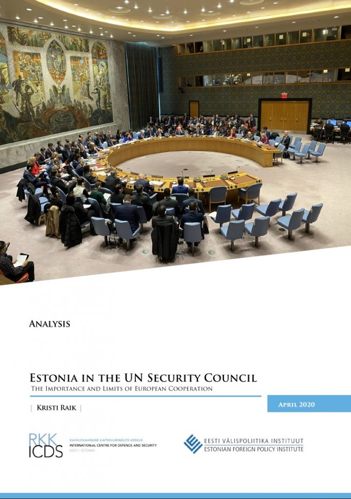 Image for Estonia in the UN Security Council: The Importance and Limits of European Cooperation