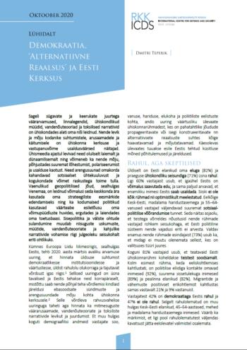 Image for Lühidalt: Demokraatia, alternatiivne reaalsus ja kerksus Eestis