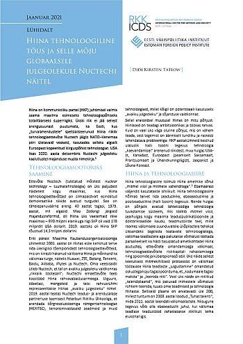 Image for Lühidalt. Hiina tehnoloogiline tõus ja selle mõju globaalsele julgeolekule Nuctechi näitel