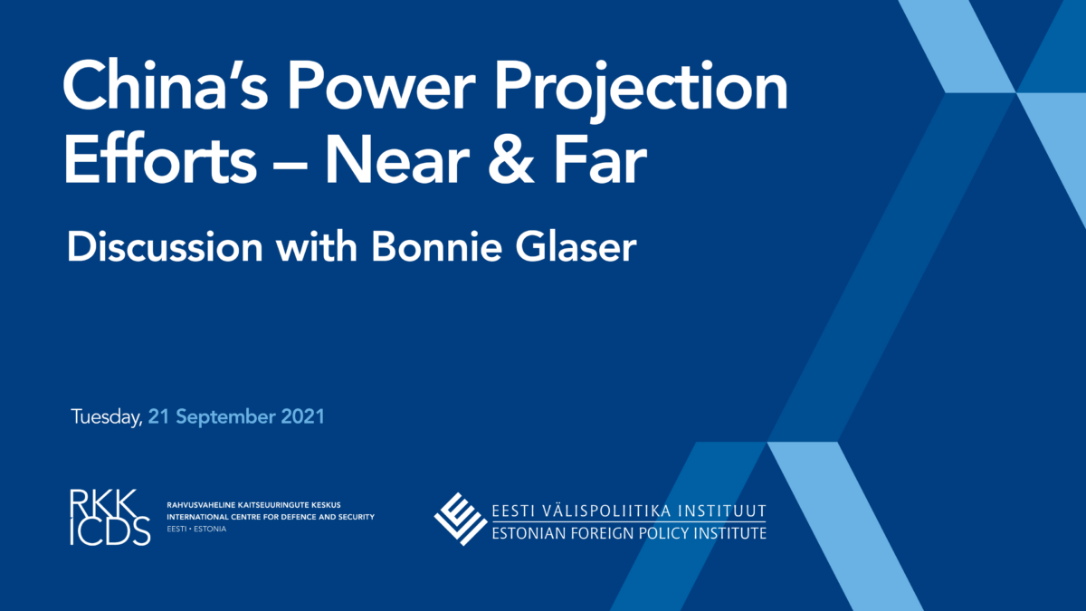 Image for Watch Again! Discussion with Bonnie Glaser: China's Power Projection Efforts – Near & Far
