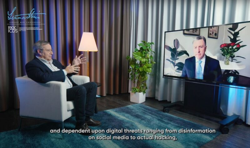 Lennart Meri Conference Talks, a conversation with former Estonian President Toomas Hendrik Ilves and US diplomat Ambassador Kurt Volker