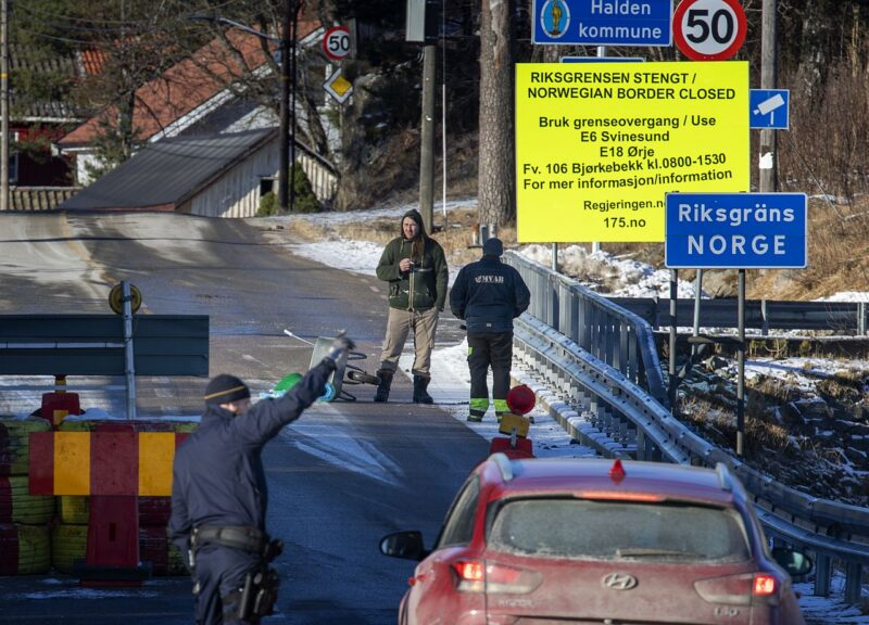 The border between Sweden and Norway at Kornsjø has been closed in an effort to stop the spread of the Coronavirus (Covid-19).